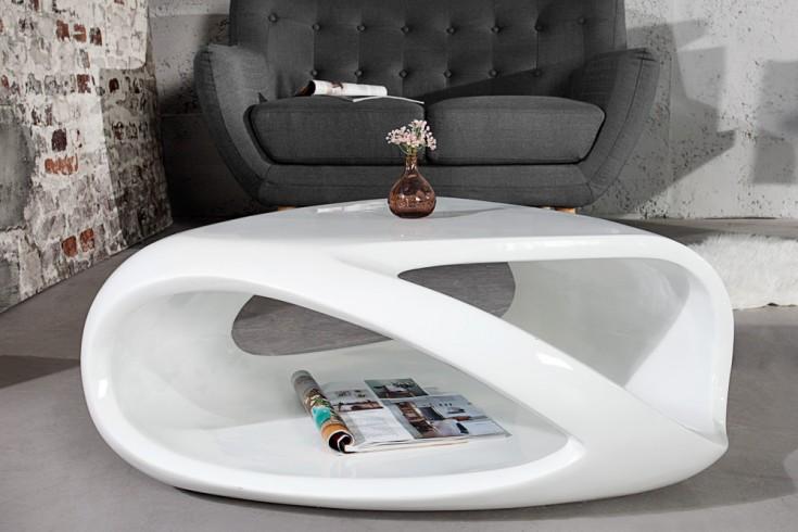 Moderner Couchtisch Organic Living 80cm Weiß Hochglanz Mit Stauraum Riess Ambiente De