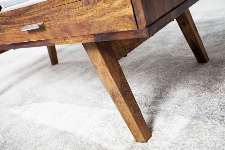 design couchtisch retro 117cm sheesham stone finish design. Black Bedroom Furniture Sets. Home Design Ideas