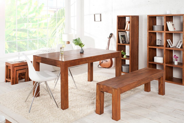 esstisch monsoon 120cm massiv akazie markant finish. Black Bedroom Furniture Sets. Home Design Ideas