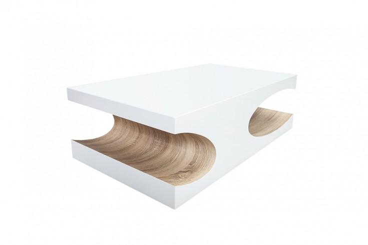 couchtisch cube 120cm hochglanz wei sonoma eiche riess. Black Bedroom Furniture Sets. Home Design Ideas
