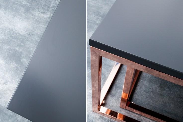 Design Couchtisch 2er Set Big Fusion 75cm Anthrazit Kupfer Riess