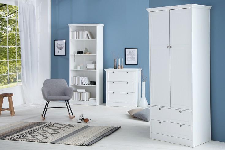 kommode provence 90cm landhausstil wei 3 schubk sten riess. Black Bedroom Furniture Sets. Home Design Ideas