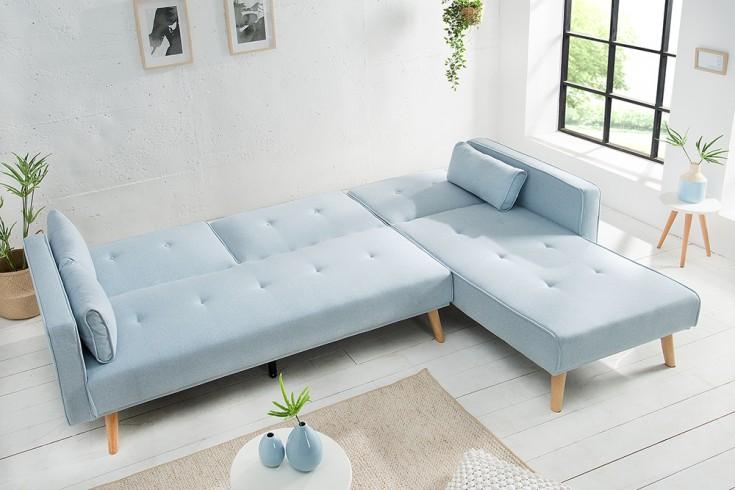 Modernes ecksofa nordic 265cm pastellblau scandinavian for Lampen scandinavian design
