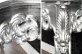 Elegante Barocke Konsole VENICE silber Anrichte 85cm