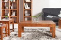 3er Set Couchtische MONSOON Massiv Akazie Markant Finish