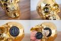 Design Spardose SKULL goldoptik 20cm Schädel Totenkopf Dekoration