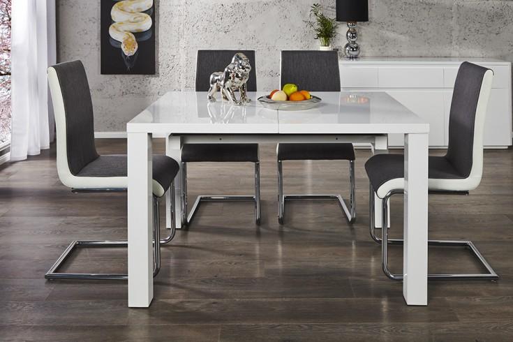 design esstisch lucente wei hochglanz 120 200cm ausziehbar tisch riess. Black Bedroom Furniture Sets. Home Design Ideas