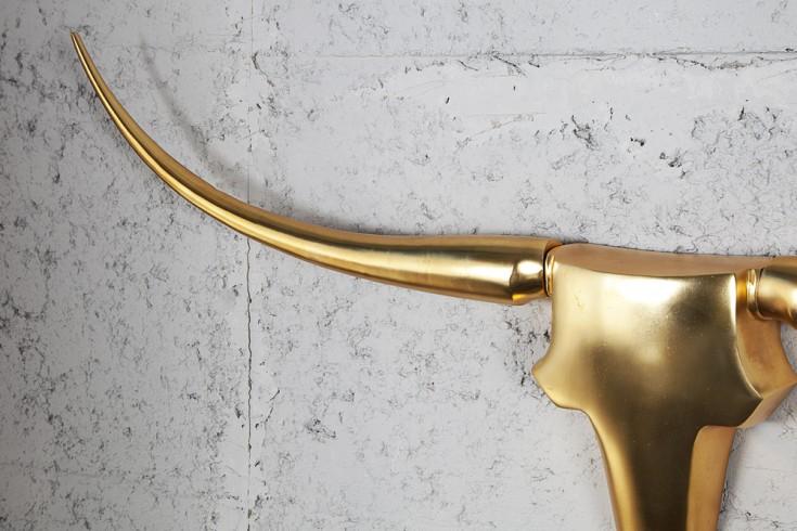 design accessoire geweih bull gold metall aluminium. Black Bedroom Furniture Sets. Home Design Ideas