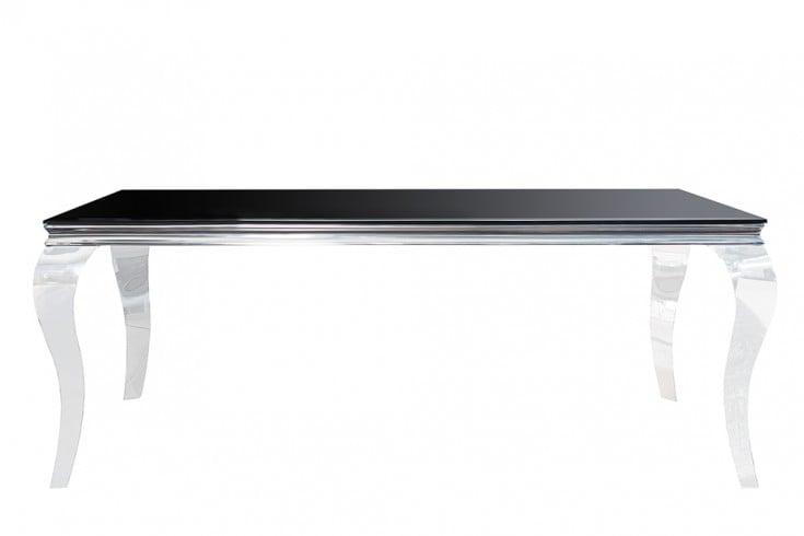 monumentaler esstisch modern barock silber 180 cm tischbeine aus ... - Esstisch Barock Modern