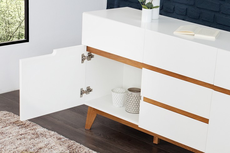 Design sideboard cervo kommode edelmatt lackiert - Sideboard skandinavisches design ...