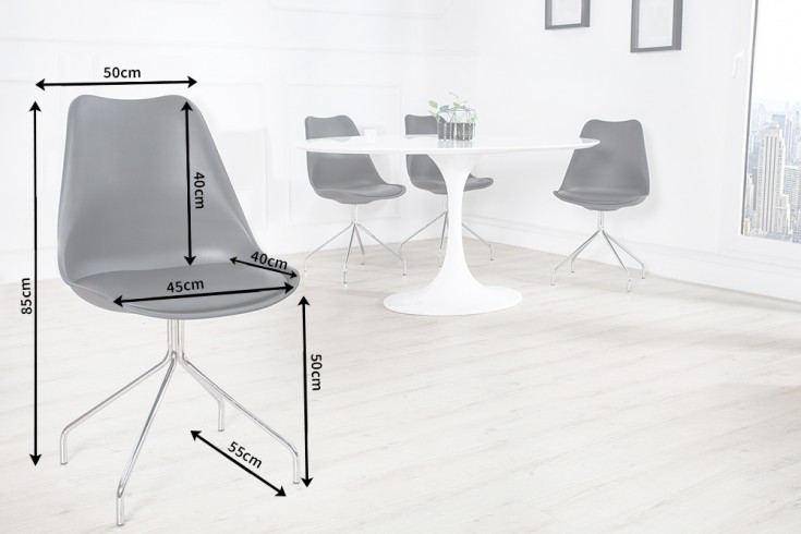 Zeitloser Design Stuhl Spider Schwarz Mit Hochwertig