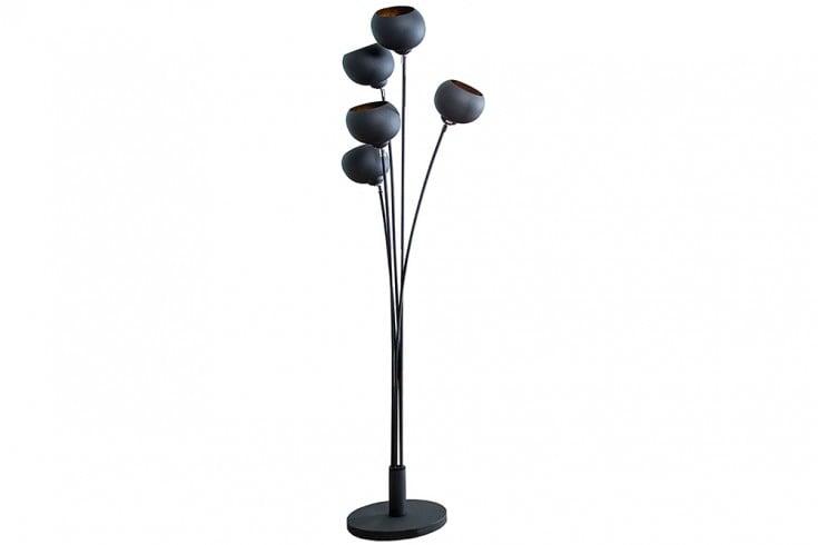 moderne design stehlampe magma 170cm schwarz gold lampe riess. Black Bedroom Furniture Sets. Home Design Ideas