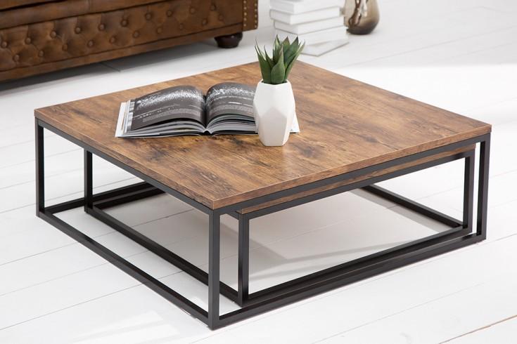design couchtisch 2er set big fusion vintage look schwarz riess. Black Bedroom Furniture Sets. Home Design Ideas