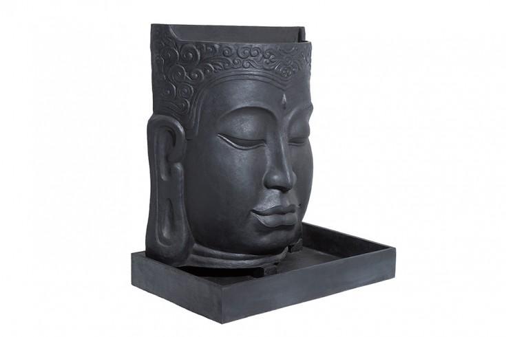 imposanter brunnen buddha 150cm anthrazit buddhakopf wasserspiel outdoorf hig riess. Black Bedroom Furniture Sets. Home Design Ideas