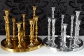 Design Deko-Platte 9-flammig Kerzenständer Lüster Metall - Aluminium - Legierung poliert Kerzenhalter