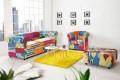 Design Chesterfield Sessel Patchwork PARADISE bunt