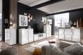 Moderne Design Kommode ARCTIC 100cm weiß Hochglanzfront Anrichte