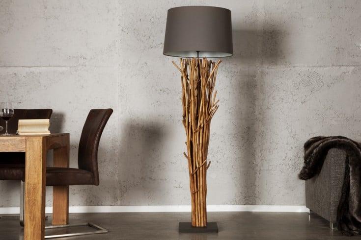 riesige design treibholz stehlampe euphoria 180cm grau. Black Bedroom Furniture Sets. Home Design Ideas