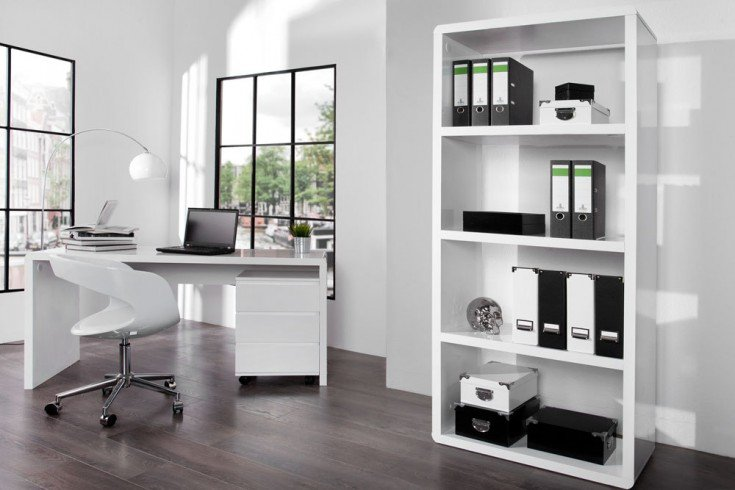 design schreibtisch fast trade hochglanz wei 160cm computertisch riess. Black Bedroom Furniture Sets. Home Design Ideas