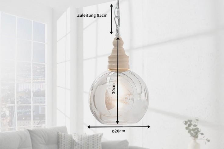 moderne h ngeleuchte bola 65 cm verspiegeltes glas und. Black Bedroom Furniture Sets. Home Design Ideas