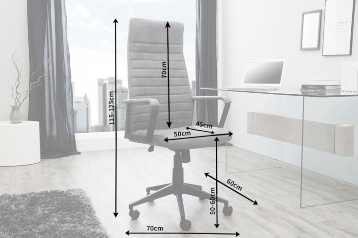 moderner design b rostuhl lazio highback vintage grau. Black Bedroom Furniture Sets. Home Design Ideas
