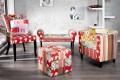 Design Patchwork Stuhl IBIZA mehrfarbig mit Armlehne