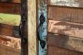 Sideboard JAKARTA Recycling Holz bunt 180cm Fischerbooten
