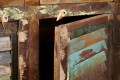 Sideboard JAKARTA Recycling Holz bunt 125cm Fischerbooten