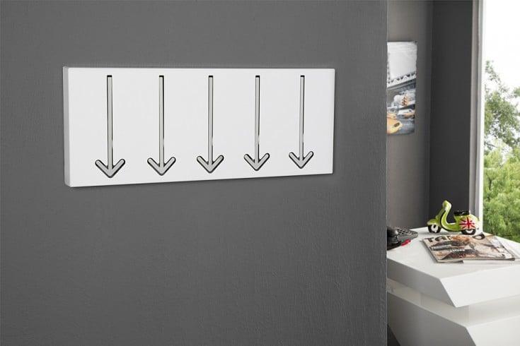 Moderne Wandgarderobe Weiß.Moderne Design Wandgarderobe Arrow 45cm Weiß Mit 5 Haken Riess Ambiente De