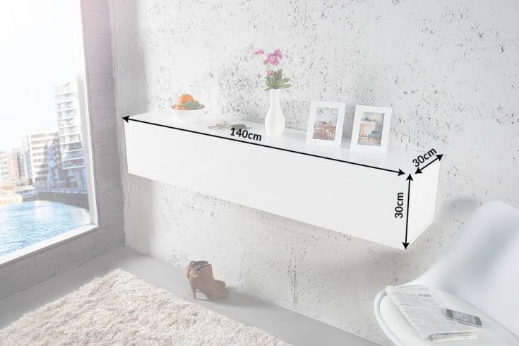 design cube wei hochglanz wandregal tv board schreibtisch made in italy riess. Black Bedroom Furniture Sets. Home Design Ideas