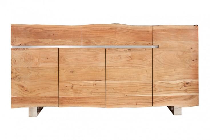 massives baumstamm sideboard mammut 170cm akazie massivholz industrial chic kufengestell aus. Black Bedroom Furniture Sets. Home Design Ideas