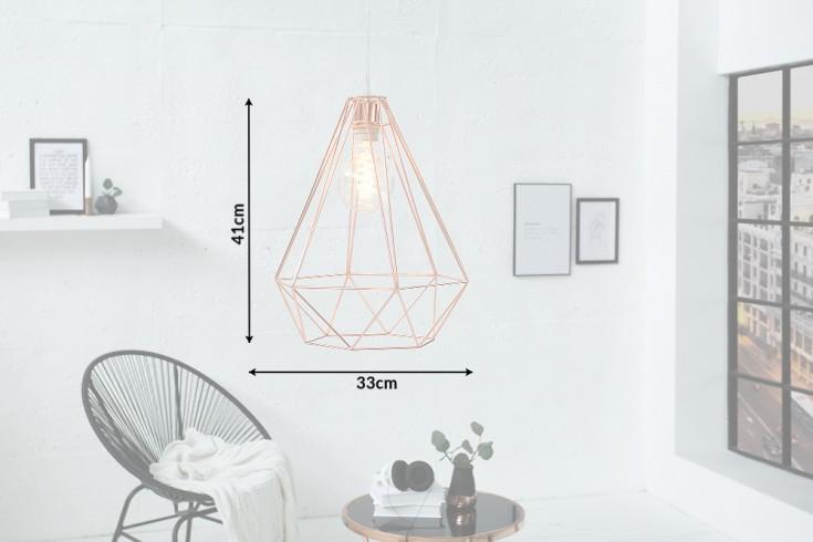 Moderne Hängeleuchte CAGE L kupfer Industrial Design | Riess-Ambiente.de