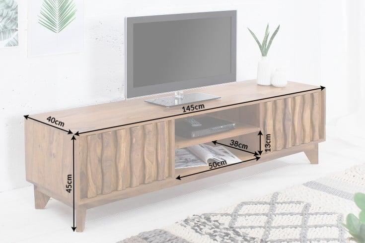 design tv board retro 145cm sheesham stone finish design klassiker riess. Black Bedroom Furniture Sets. Home Design Ideas