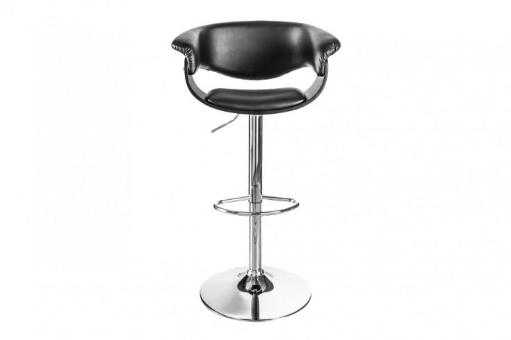 retro barhocker modern schwarz silber 110cm h henverstellbar mit armlehne riess