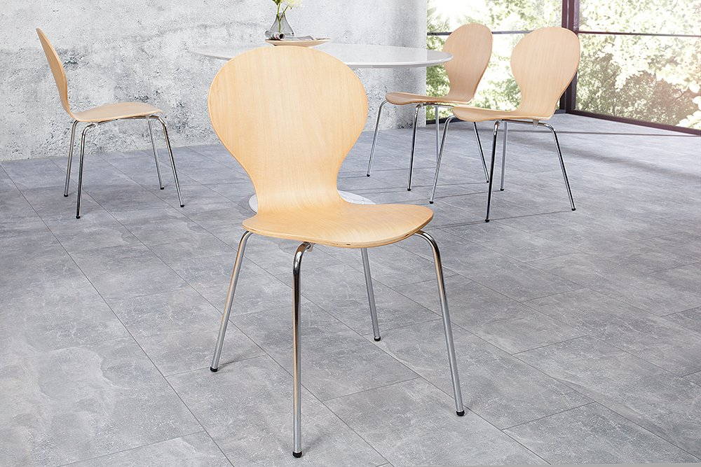 design stuhl form designklassiker aus hochwertigem formholz ahorn stapelbar riess. Black Bedroom Furniture Sets. Home Design Ideas