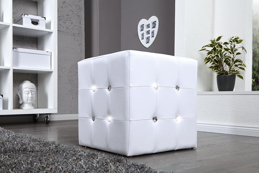design sitzw rfel boutique 1er hocker wei mit. Black Bedroom Furniture Sets. Home Design Ideas