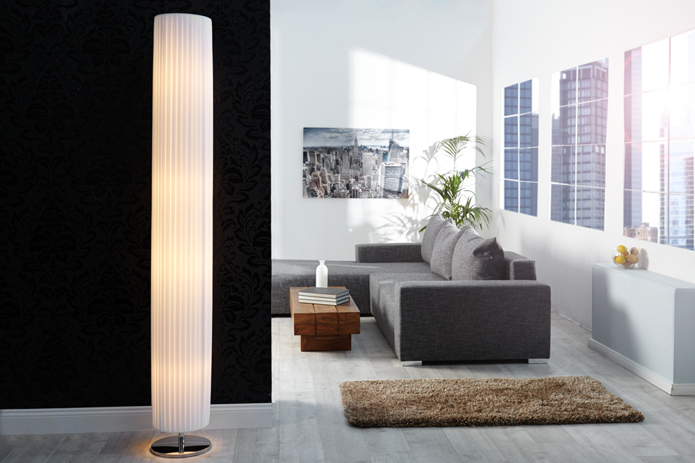 riesige glamour se art deco stehlampe salone 200cm wei riess. Black Bedroom Furniture Sets. Home Design Ideas