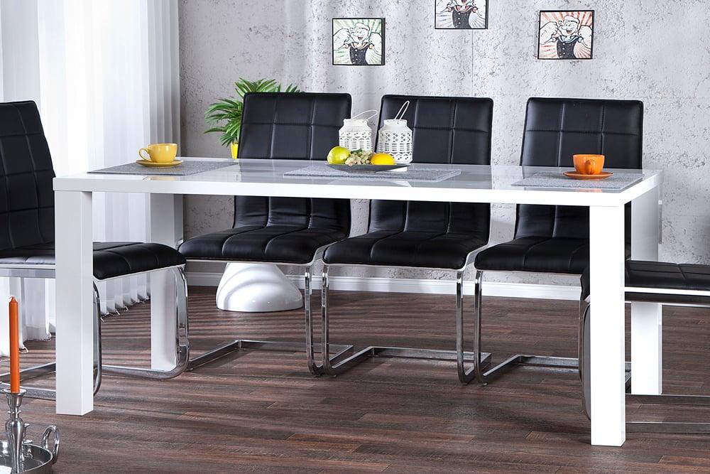 Design Esstisch LUCENTE Weiß Hochglanz 160cm Tisch
