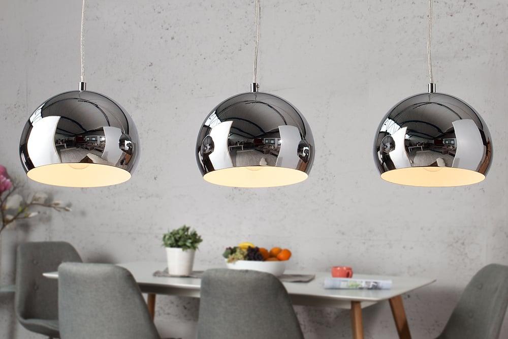 Designer hängeleuchte chromagon chrom kugelleuchte lampe leuchte