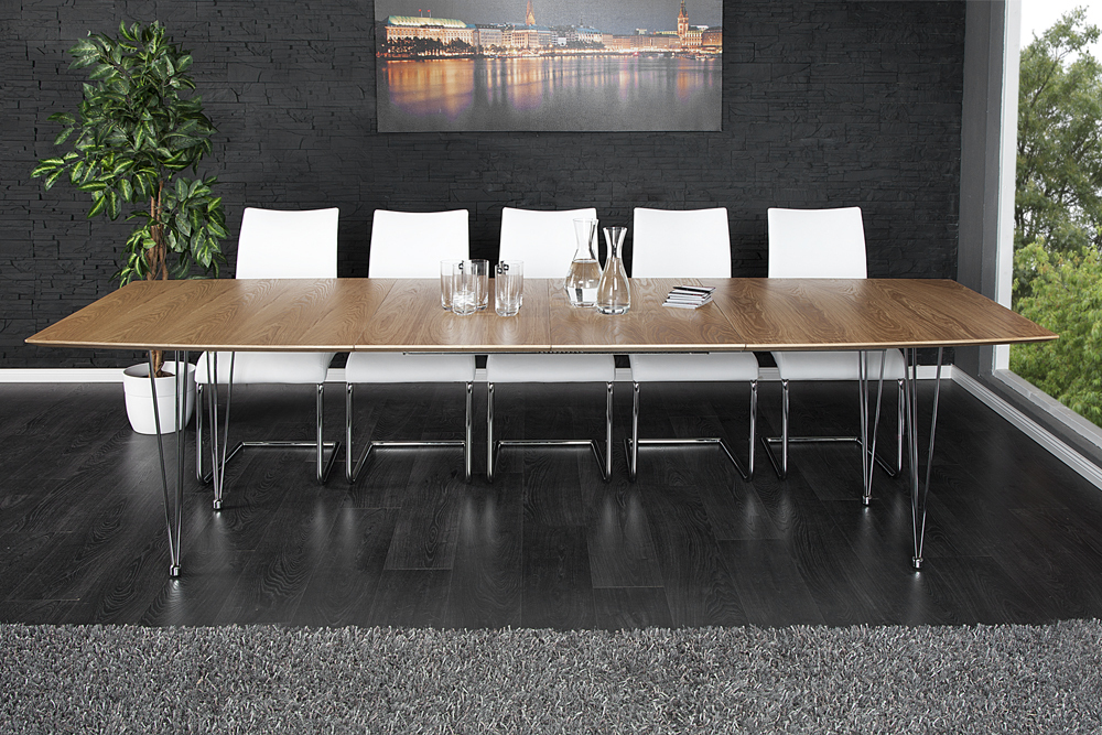 Moderner Esstisch moderner esstisch continental eiche konferenztisch 270cm echtholz