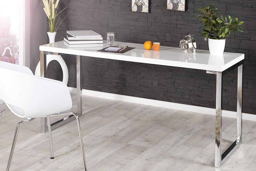 schreibtisch design weis, design schreibtisch white desk 140x60cm hochglanz weiß | riess, Design ideen
