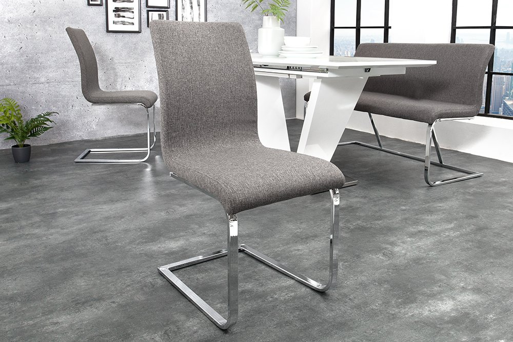 Esszimmerstuhle grau silber for Chinesische mobel gunstig