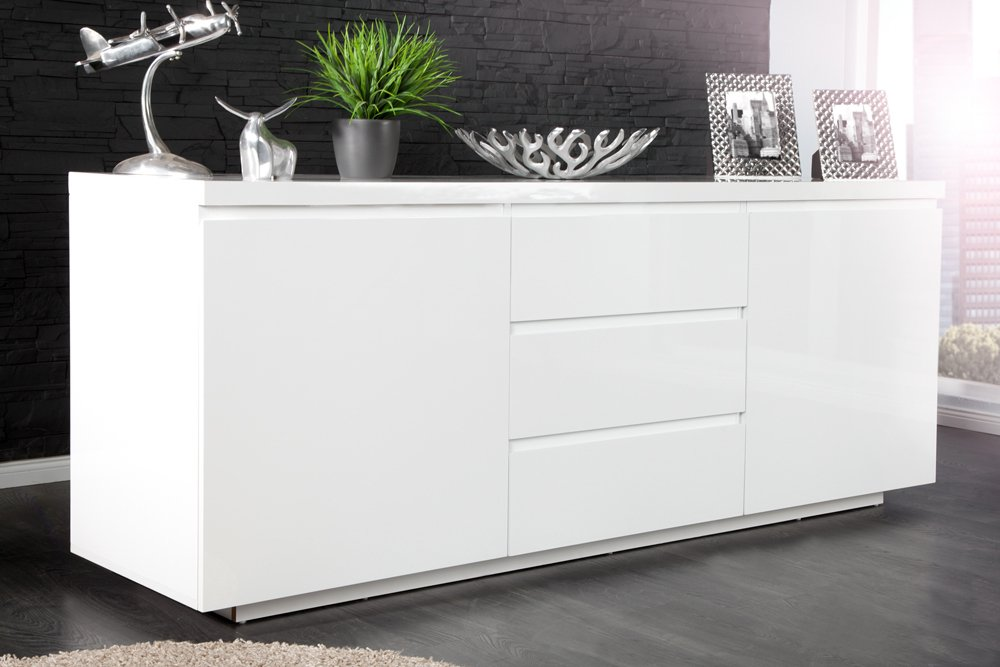 modernes design sideboard x7 190cm wei hochglanz finish riess. Black Bedroom Furniture Sets. Home Design Ideas