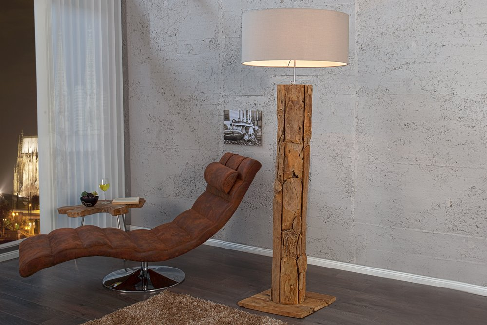 massive teakholz stehlampe roots sand treibholz lampe. Black Bedroom Furniture Sets. Home Design Ideas