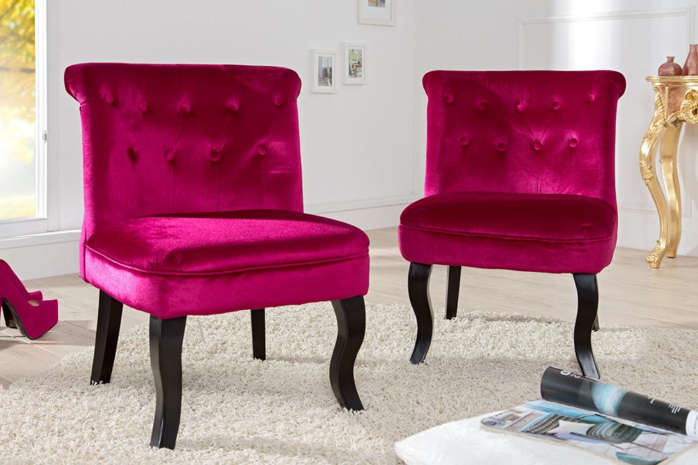 design sessel boutique samt pink mit nackenrolle riess. Black Bedroom Furniture Sets. Home Design Ideas