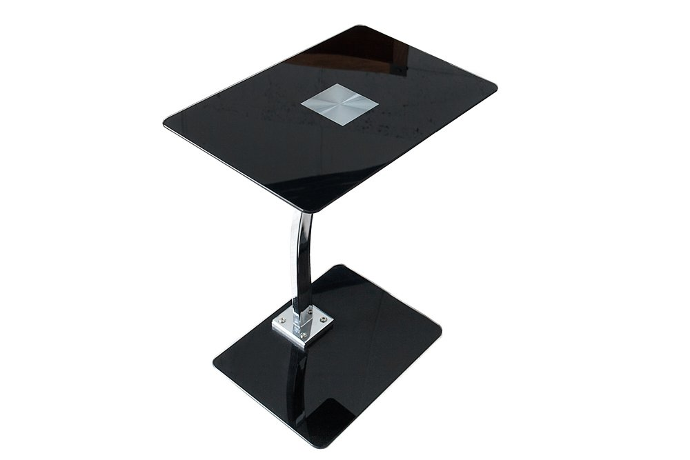 Design tablet laptop butler tisch beistelltisch schwarz for Design tisch schwarz