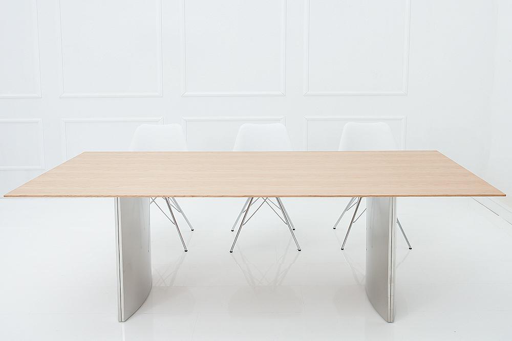 massiver esstisch miracle 200cm symbiose eiche und edelstahl riess. Black Bedroom Furniture Sets. Home Design Ideas