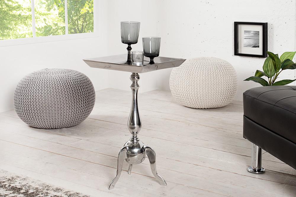 Stylischer Design Tablett Tisch Trayful 35cm Beistelltisch Aluminium