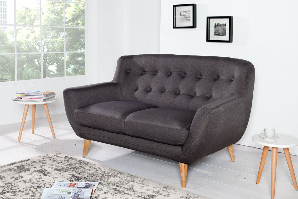 retro designklassiker 2er sofa scandinavia meisterst ck. Black Bedroom Furniture Sets. Home Design Ideas