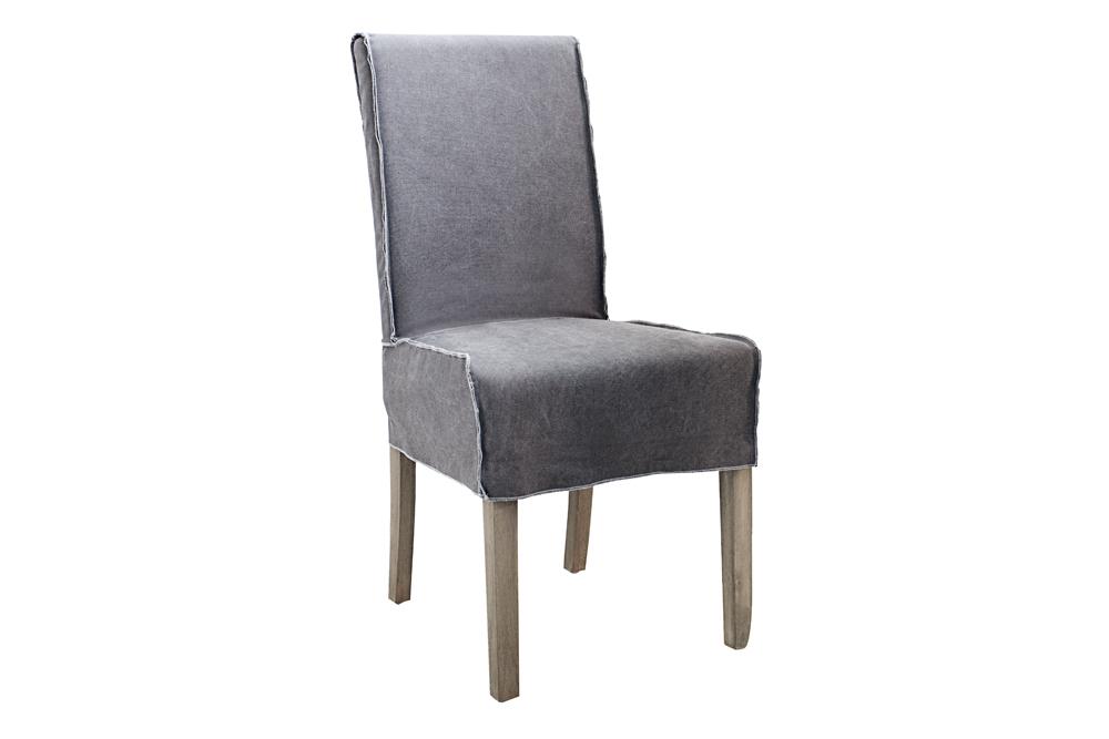 moderner hussenstuhl stone washed graphit jeansstoff mit. Black Bedroom Furniture Sets. Home Design Ideas